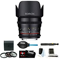 Rokinon DS 50mm T1.5 Cine Lens for Sony E Mount + Accessory and Filter Bundle