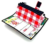 Cute Floral and Red Checkered Oilcloth Envelope System Wallet for Cash Budgeting and Extreme Couponing