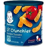 Gerber graduados Lil 'Crunchies, tomate de jardín, botes de 1.48 onzas (paquete de 6)