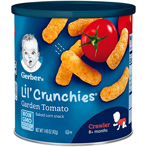 Gerber Lil' Crunchies, Garden Tomato, 1.48 Ounce Canister (Pack of 6) ()