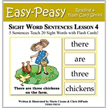 Sight Word Sentences Lesson 4: 5 Sentences Teach 20 Sight Words with Flash Cards (Learn to Read Sight Words)