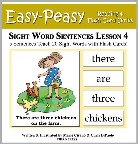 Download Sight Word Sentences Lesson 4: 5 Sentences Teach 20 Sight
