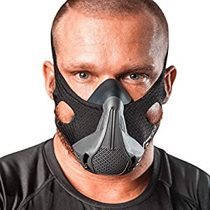 Cascade Fitness Gear Workout Mask, 25 Breathing Resistance Levels. Fitness Mask for High Altitude Training Simulation. Helps Boost Cardio Endurance and Improve Lung Capacity. Free Carry Case Included
