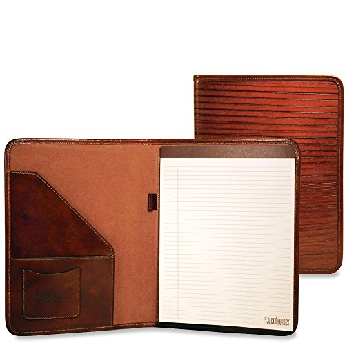 Jack Georges Monserrate Collection Letter Size Writing Pad Cognac by Brown