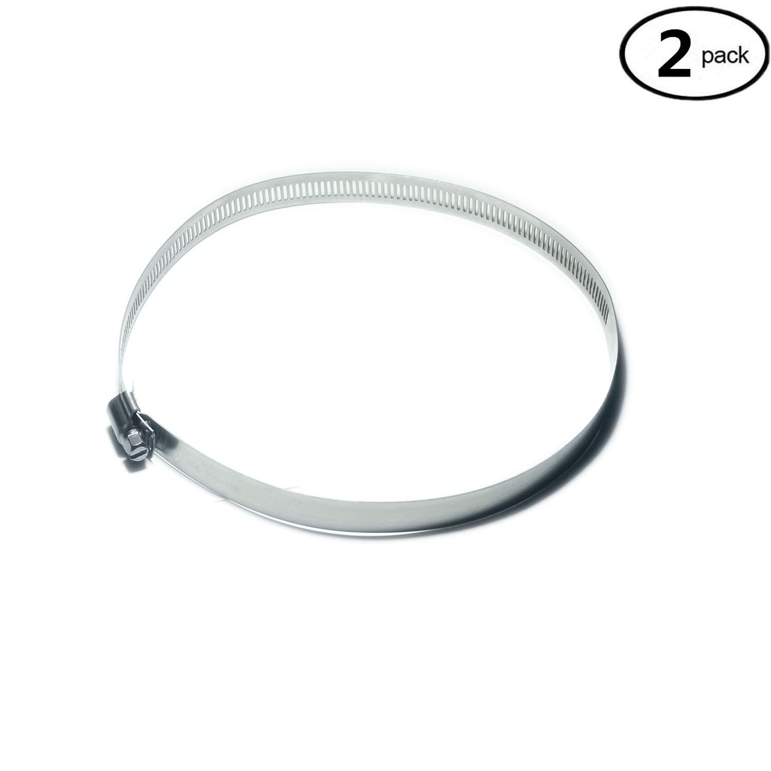 12 Inch Adjustable Stainless Steel Worm Gear Hose Clamps Water Pipe Clamps YongXuan