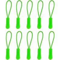 10Pcs Zip Tags Cord Pulls Zipper Extension Zip Slider Replacement
