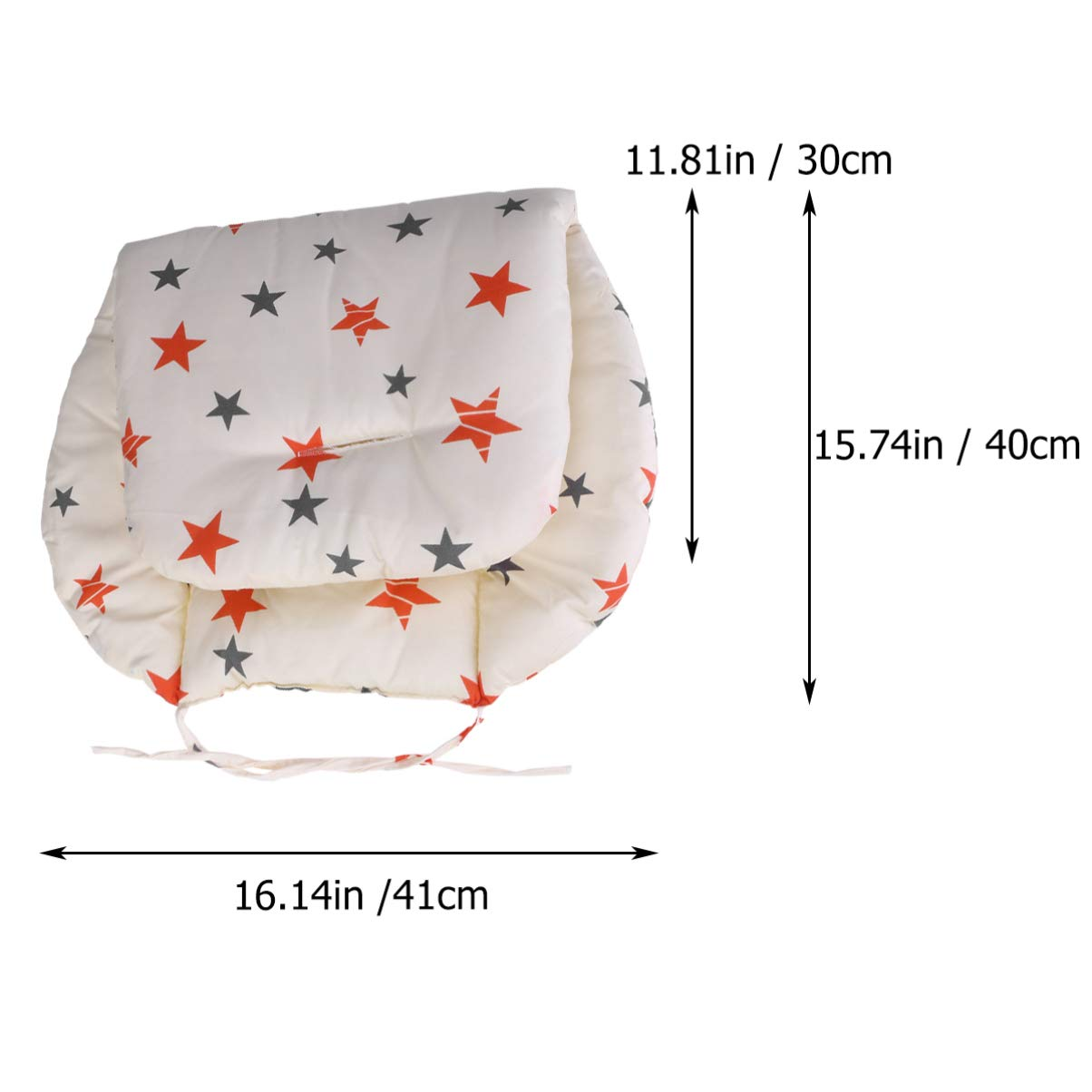 HEALLILY Baby Stroller Car High Chair Seat Cushion Breathable Stroller Liner Mat Pad Cover Protector Five-Pointed Star