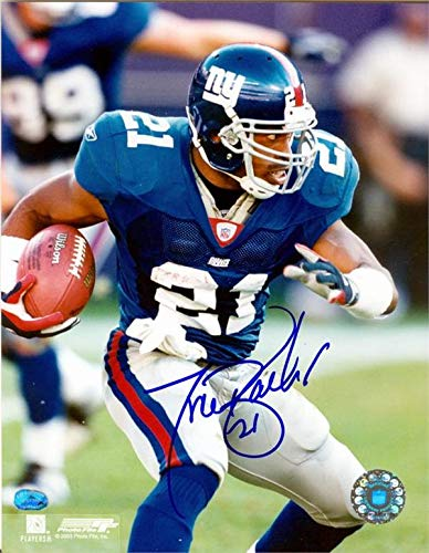 Tiki Barber autographed photo (New York Giants Teams All Time Leading Rusher) size 8x10 image #15 ()