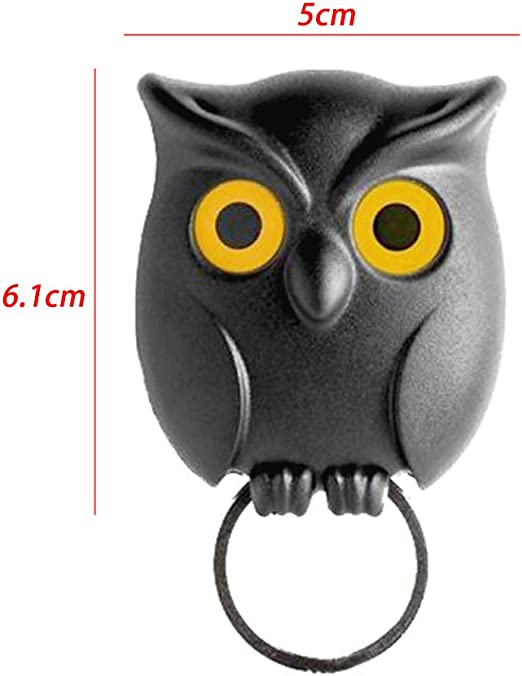 Key Holder Owl Shape Magnetic Organizer Hook Wall Mounted Keychain Hanger Novelty Friendship Charm Key Hanging Ring For Home Decor Show Home Kitchen