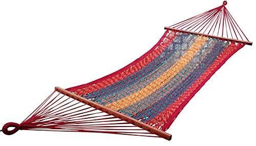 Oak N Oak Mexican Brazilian Multi-Color Cotton Rope Hammock Swing