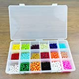 Lonjew 606 Plastic Bead Organizer with Eighteen Different Compartment Plastic Beadwork Storage