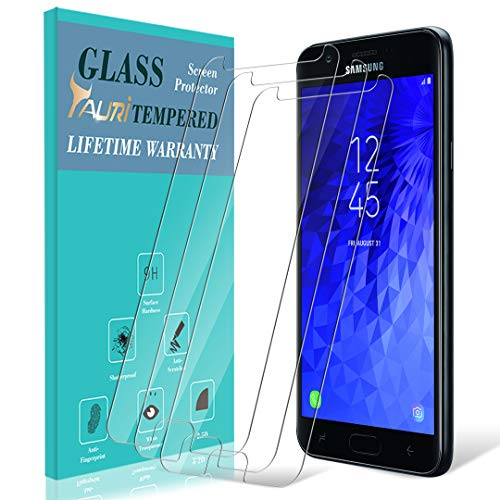 [3-Pack] TAURI Screen Protector for Galaxy J7 2018, [Tempered Glass] Screen Protector for Samsung Galaxy J7 Aero / J7 Top / J7 Eon / J7 Aura with Lifetime Replacement Warranty