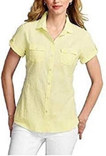 Eddie Bauer - Camisas - para mujer amarillo X-Large: Amazon ...