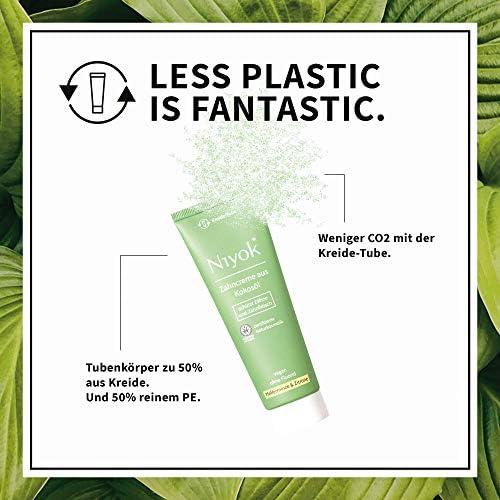 Niyok® Kokosöl Zahnpasta ohne Fluorid und Mikroplastik Plastik   Bio Naturkosmetik Sensitiv auch für Kinder  ...