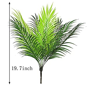 Artificial Plants Greenery Boston Fern Plants Shrubs Tropical Palm Leaf for Indoor Outdoor Wedding Deco 2