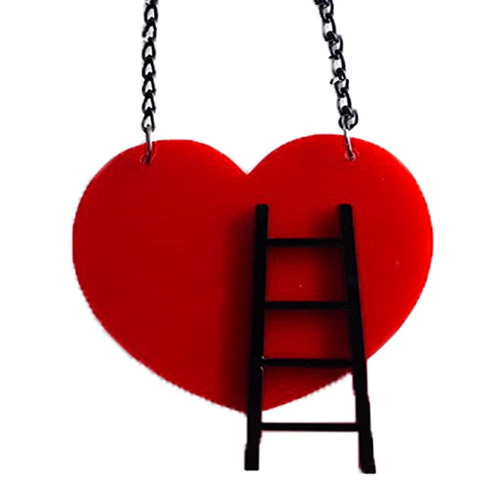 Amazon.com: Corazón Corte láser de collar de acrílico ...