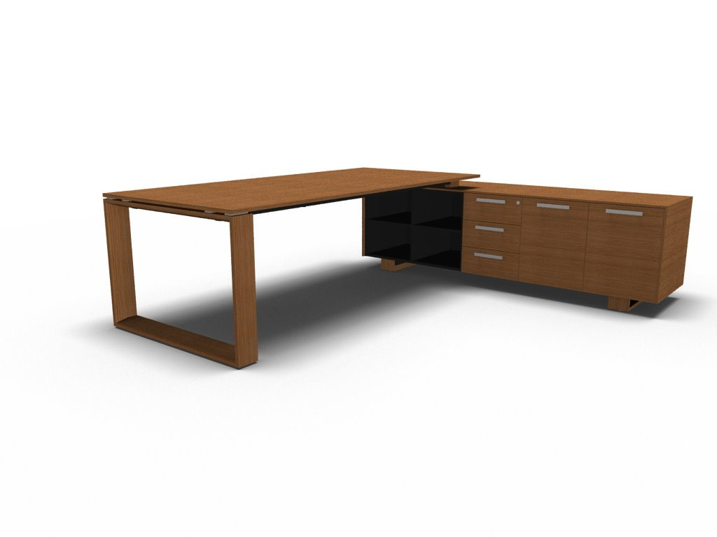 Schreibtisch mit Sideboard ARCHE, Design Büromöbel, Chefschreibtisch ...