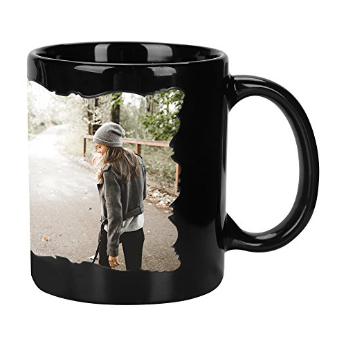 Custom Photo Personalized Coffee Mug Add Pictures Logo Text to Custom Mugs Customized Travel Beer Mug Hot Sensitive Magic Color Changing Ceramic Cups Gifts for Families Lover Friends -