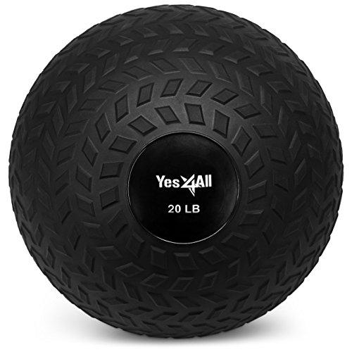 Yes4ll - Bola de Lanzamiento para Entrenamiento de Fuerza y Crossfit, Color Negro