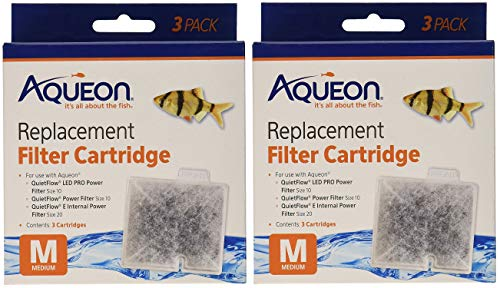 (2 Boxes) Aqueon 06084 Filter Cartridge, Medium, 3-Pack Each