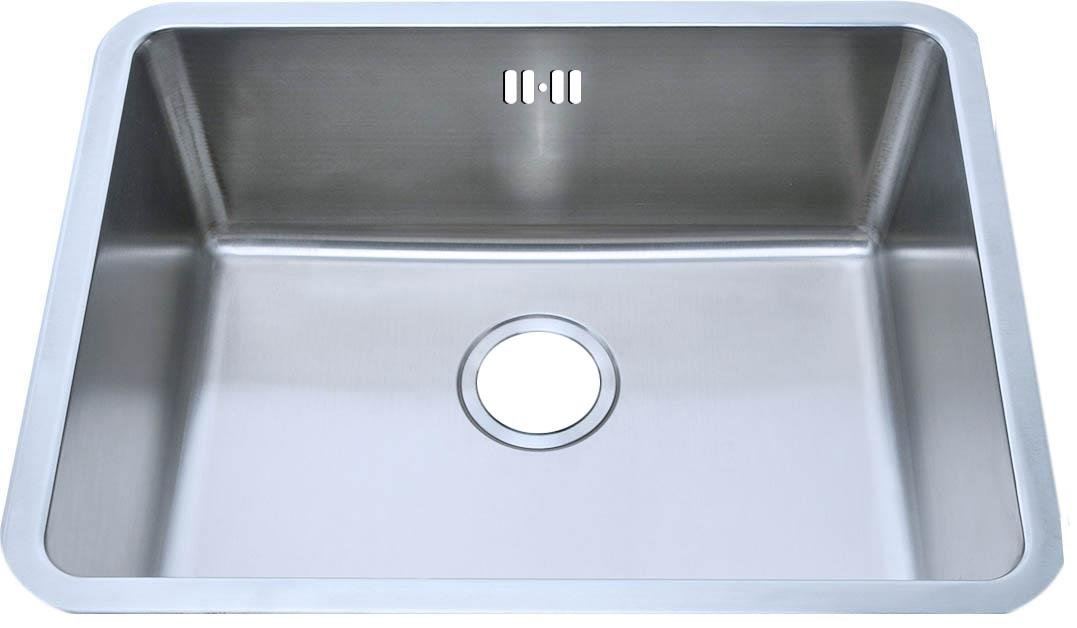 Undermount Brushed Stainless Steel Bowl Kitchen Sink (A02 bs) Grand Taps
