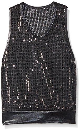 Gia Mia Dance Girls' Big Reflection Tunic, Black, Small