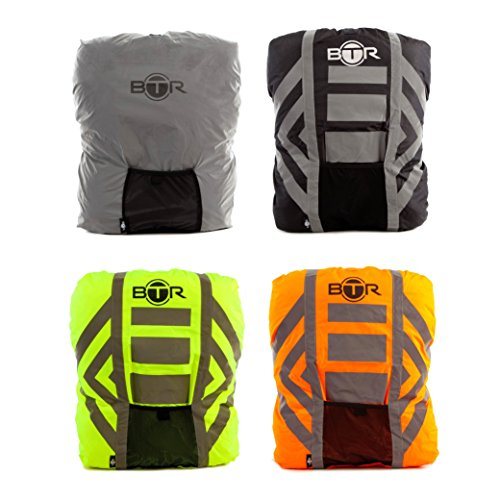 High Visibility Reflective 100% Waterproof Backpack Cover. BEST Rucksack Cover For Low Light & Night Time Visibility. BTR Backpack Cover is the Only 100% Waterproof Cover You Need. Be SEEN & KEEP DRY