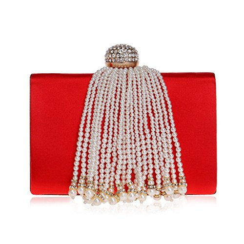 Holding Evening bag Color Apricot Bag Evening Red Fringed Bag And evening Women's Banquet New Ladies Bag Fly Hand CRqwFF