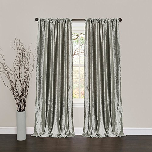 Velvet Dream Silver Bells Window Curtains, Pair