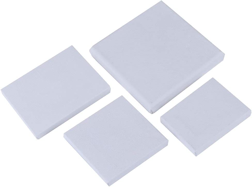 Panghuhu88 Blank White Mini Small Stretched Artist Canvas Art Board Acrylic Oil Paint