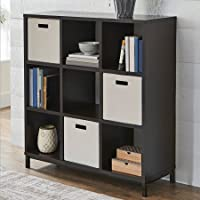 Better Homes and Gardens 9-Cube Organizer with Metal Base - Espresso Finish