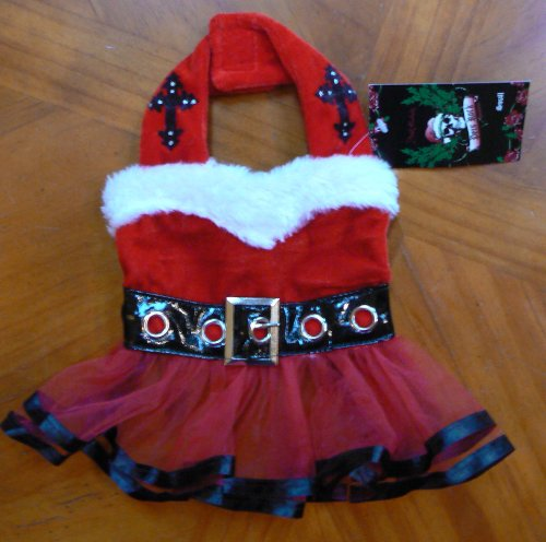 Bret Michaels Dog Costume (Pets Rock! Fancy Santa DOG or CAT Dress! So Cute! (Size-small))