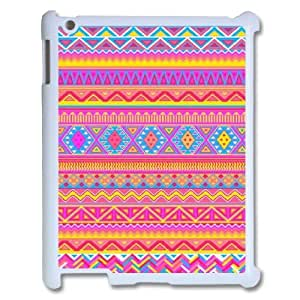 DIY Aztec Chevron Personalized Hard Back Cover Case for iPad2,3,4