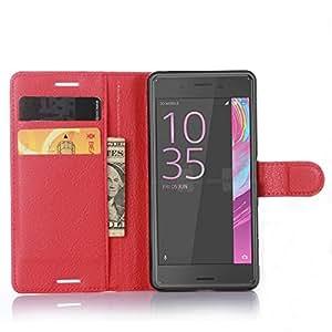Sony Xperia X Performance Cuero Billetera Case, Bester® Libre de Contaminación PU Cuero + PC Shell Funda Case Cubierta Cover