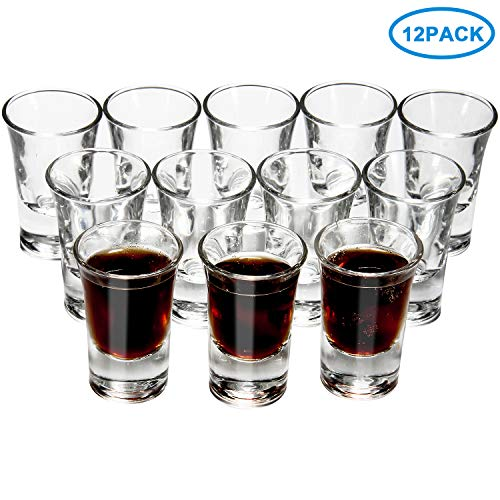 RUCKAE 12 Pack Heavy Glasses 1 Ounce product image