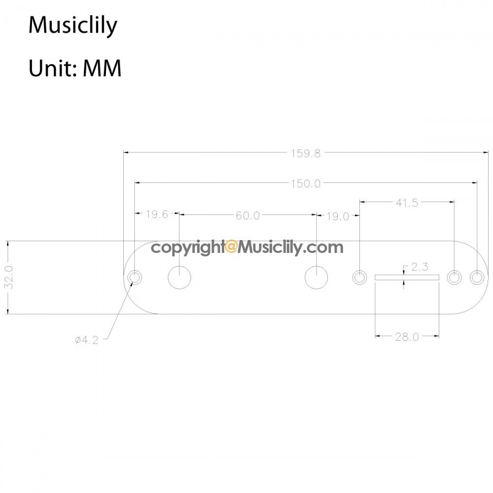 Musiclily Prewired 32mm Width Control Plate 3 Way Loaded Switch Tele Wiring Harness Knobs For Fender