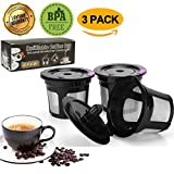 GP Reusable K Cup,Reusable K Cups K Cup Reusable Refillable K Cup Coffee Filter for Keurig Brews 2.0 & 1.0