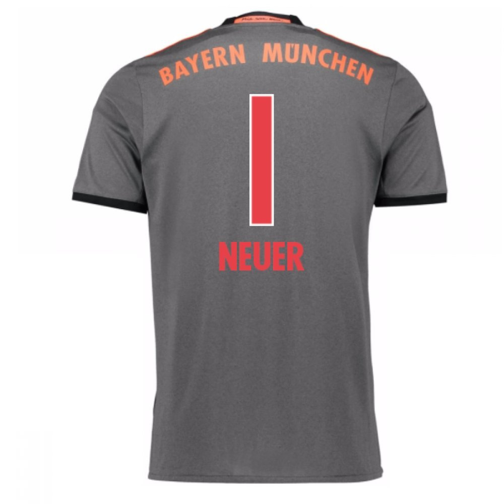 2016-17 Bayern Munich Away Shirt (Neuer 1) B077Z5KQF6Grey Large 42-44\