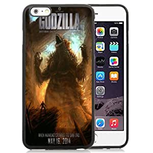 Beautiful Custom Designed Cover Case For iPhone 6 Plus 5.5 Inch With Godzilla 2014 Poster Phone Case