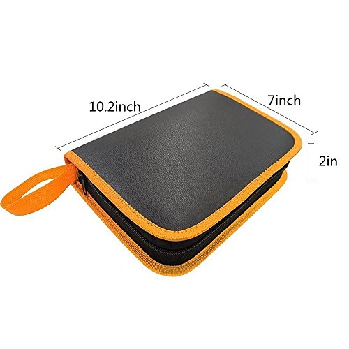 elsky pu leather carrying case tool organizer storage bag for electric soldering iron kit. Black Bedroom Furniture Sets. Home Design Ideas