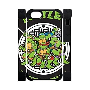 Hoomin Simple Grey Teenage Mutant Ninja Turtles iPhone 5 Cell Phone Cases Cover Popular Gifts(Dual protective)