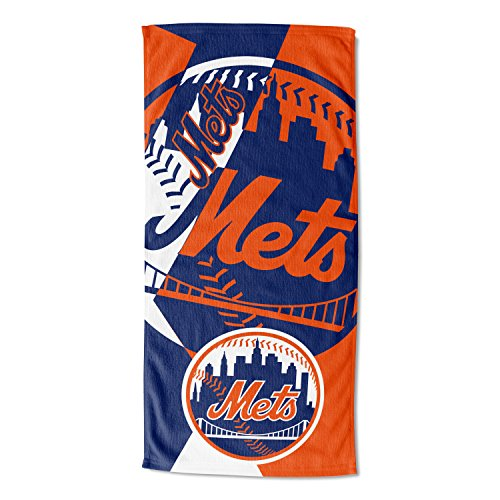 Officially Licensed MLB New York Mets Puzzle Beach Towel, 34