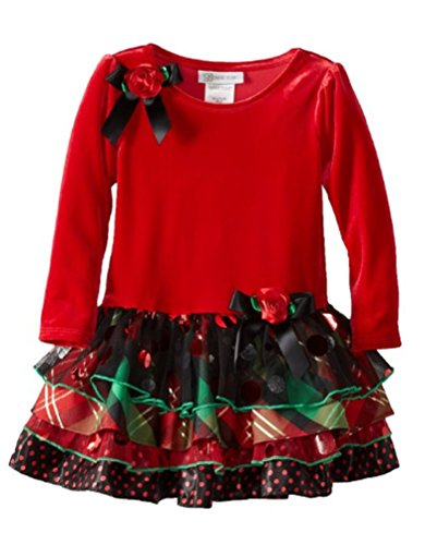 Denim Velvet Skirt (Bonnie Jean Girls 2-6X Stretch Velvet with Mesh Tiered Skirt (3-6 months))