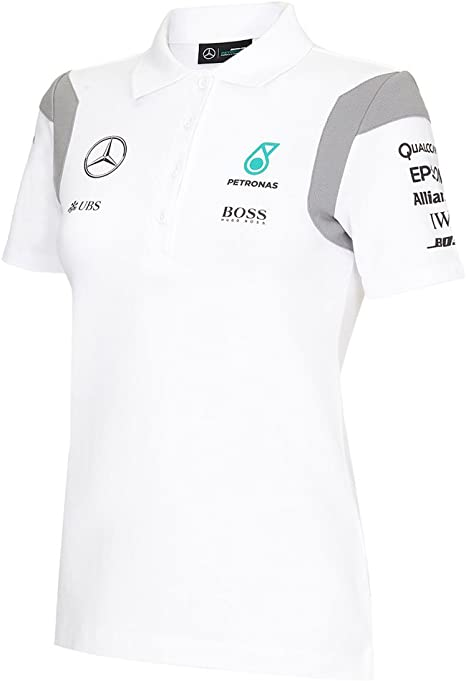 2016 Mercedes-AMG F1 Womens equipo Polo camisa negro o blanco ...