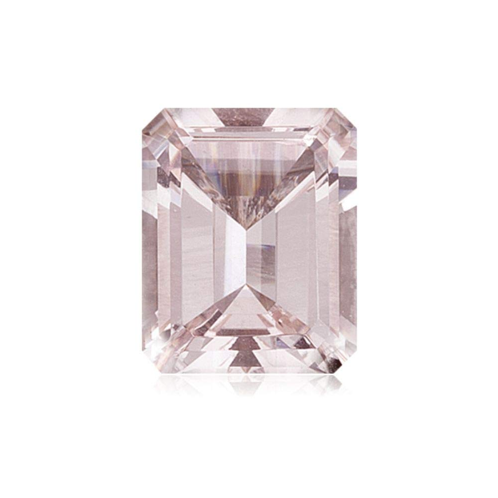 Mysticdrop 2.33-3.60 Cts of 10x8 mm AAA Emerald-Cut Mozambique Morganite (1 pc) Loose Gemstone