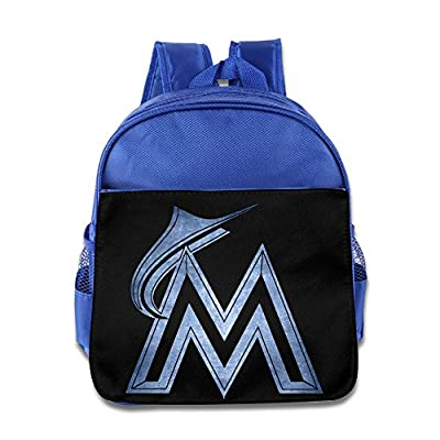 Miami Marlins Black Pond Logo Kids School Backpack Bag