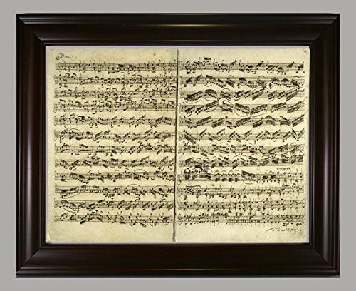 BiblioArt Series バッハ自筆譜(無伴奏ヴァイオリンのためのソナタとパルティータ)額装品 B07922W3F8