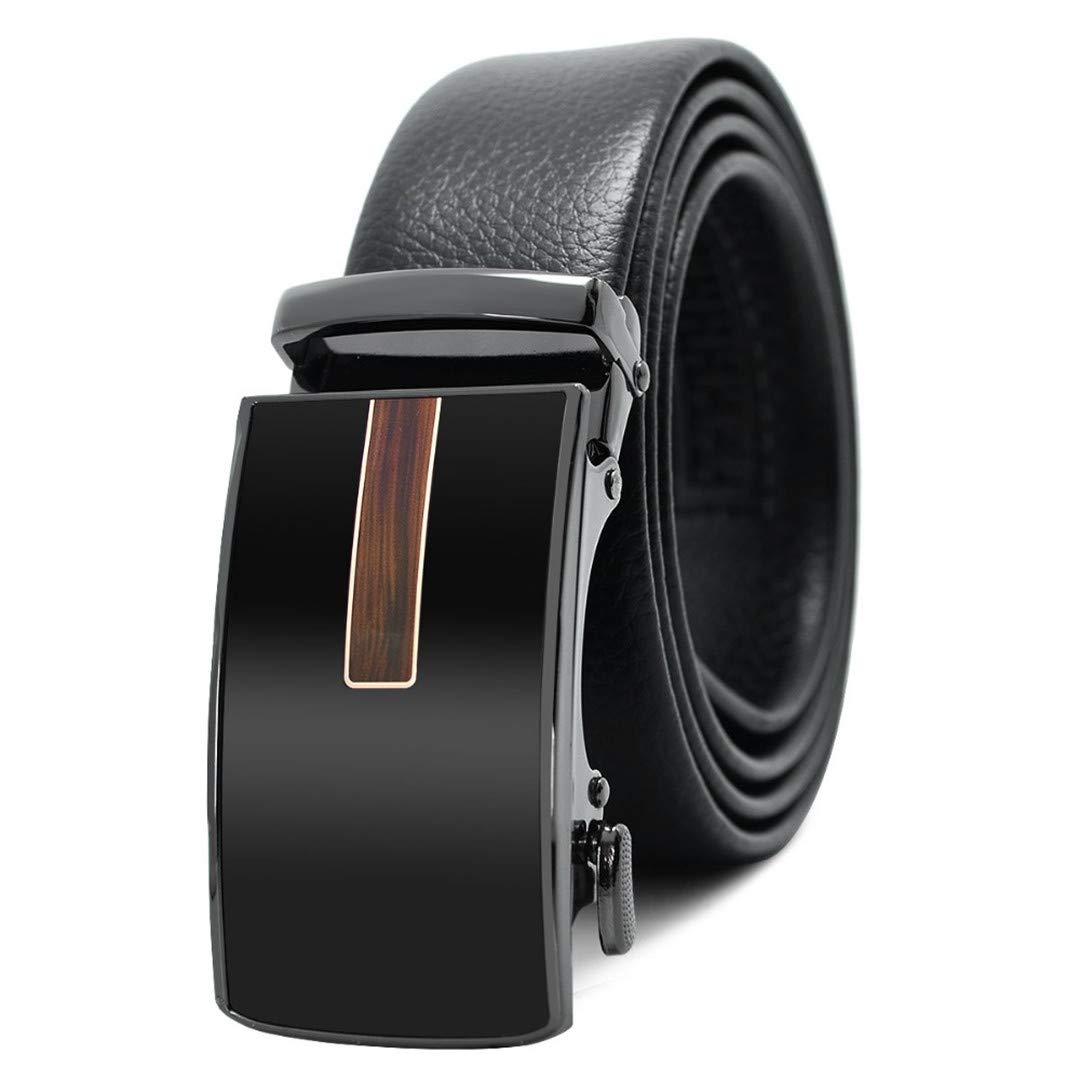 JUIHUGN Famous Black Belt Men t Genuine Luxury Leather Belts for Men,Strap Male Metal Automatic Buckle AC040A0137 125cm
