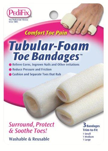 Pedifix Bandages (Pedifix Tubular-Foam Toe Bandages -#P337-Small - Pack of 3)