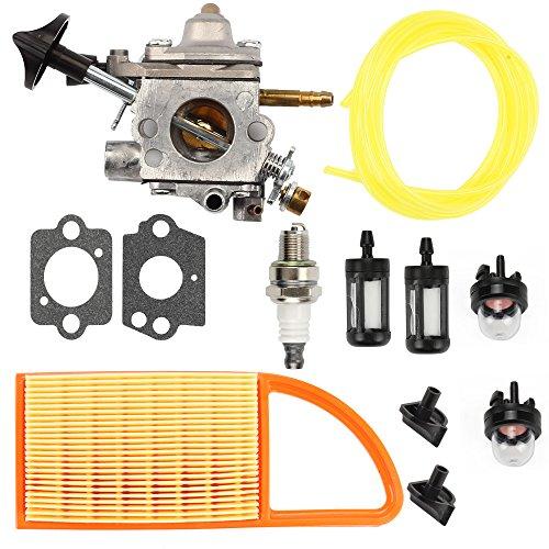 Harbot C1Q-S183 Carburetor with Air Fuel Filter Line Repair Gasket for Stihl BR600 BR550 BR500 Backpack Leaf blower